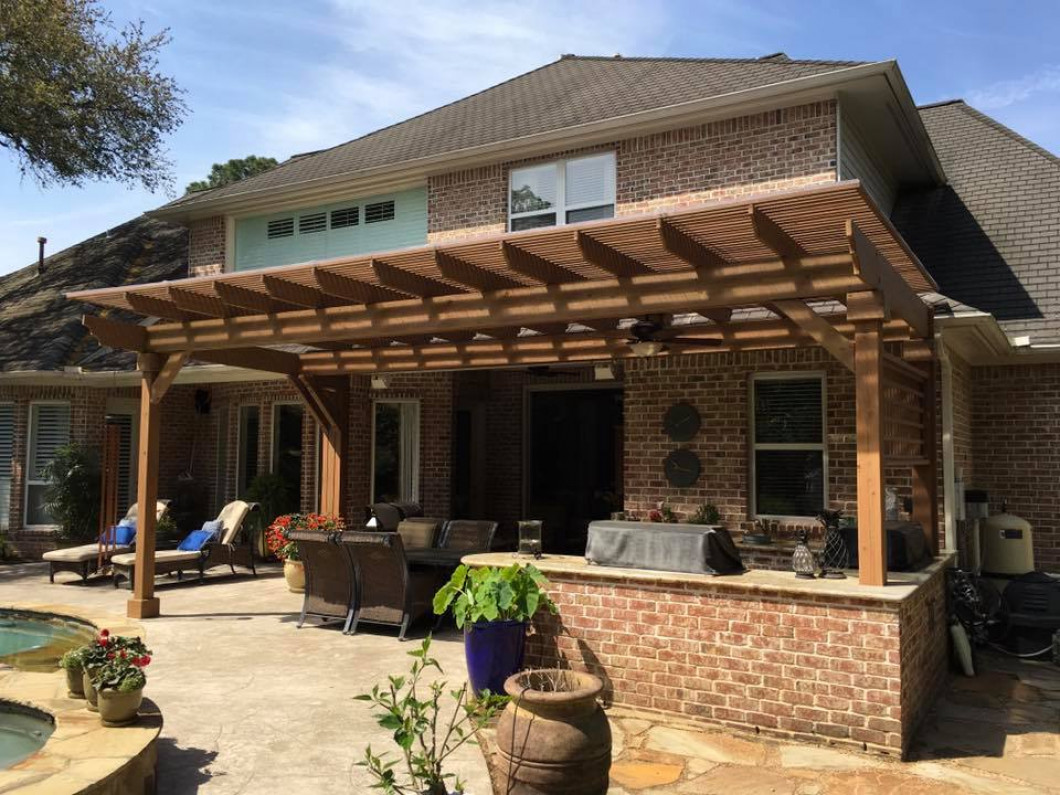 Give your backyard character by installing a custom pergola